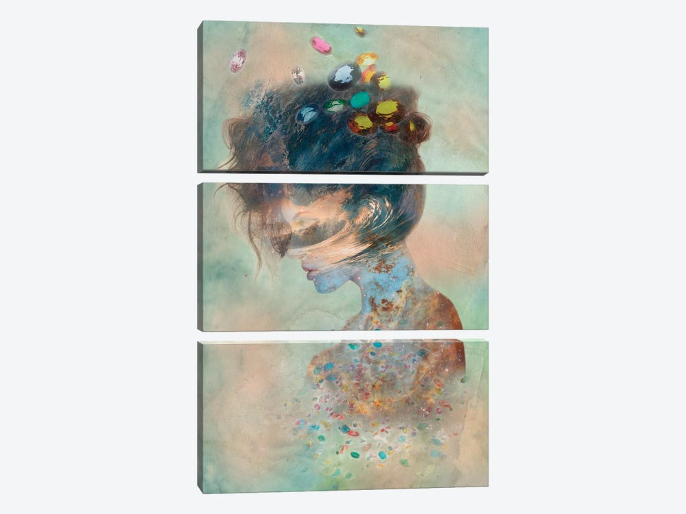Opalescent by 5by5collective 3-piece Canvas Art