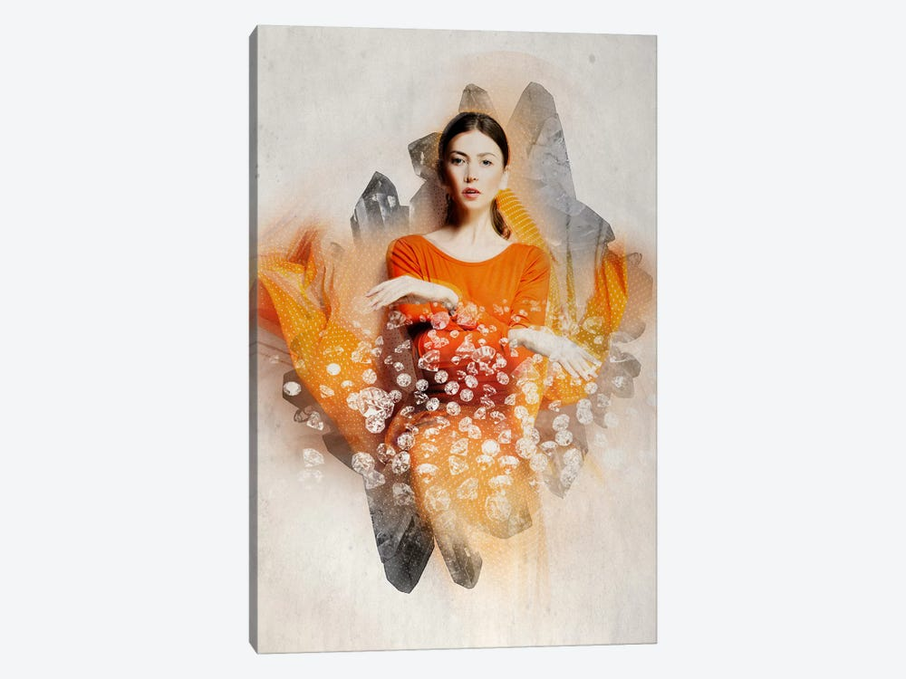 Ruby Bliss by 5by5collective 1-piece Canvas Print