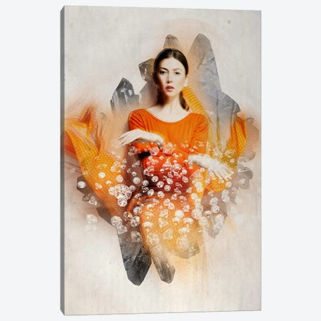 Ruby Bliss Canvas Print #RMW8} by 5by5collective Canvas Art