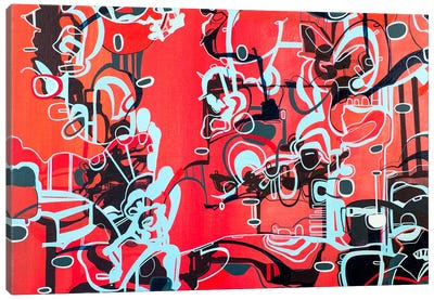 Roam-Red  Canvas Print #RMY11