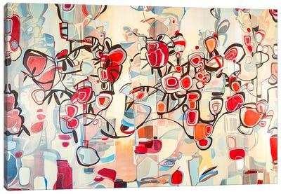 Ruby Blossoms  Canvas Art Print
