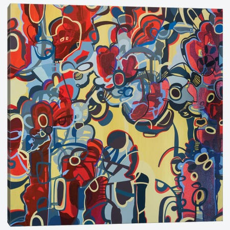 Red & Yellow Canvas Print #RMY26} by Rebecca Moy Canvas Art