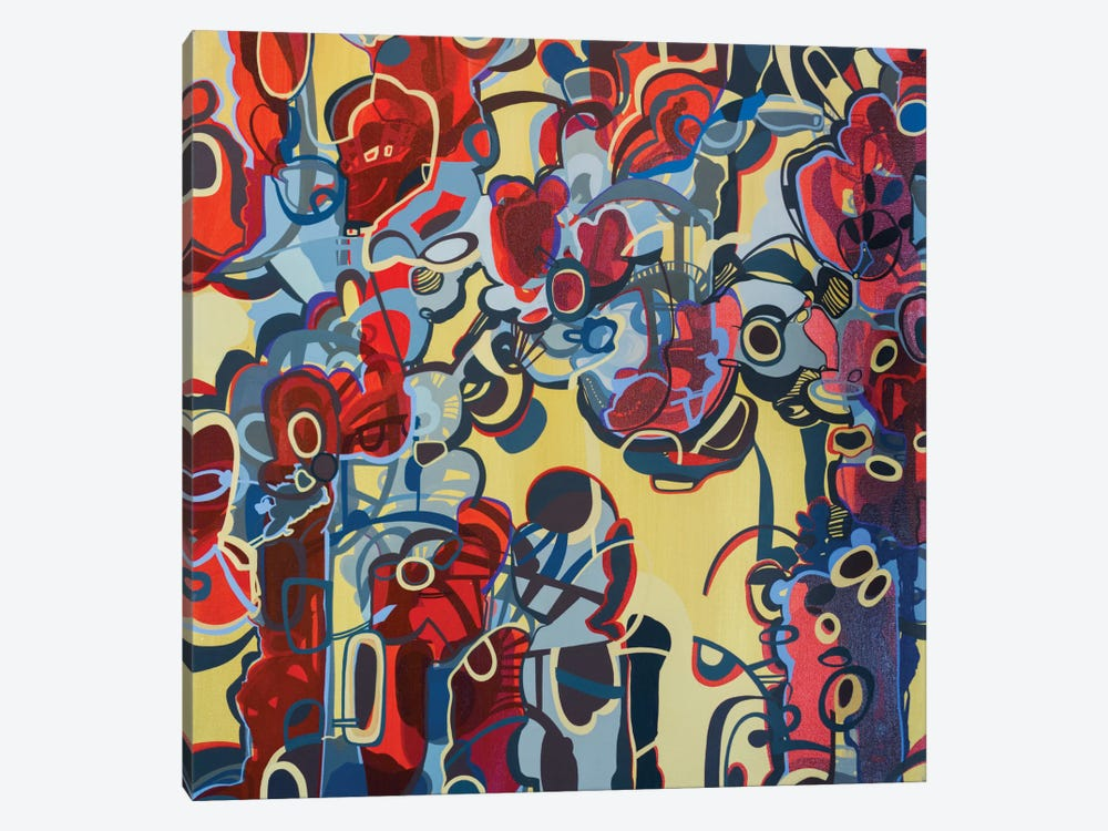 Red & Yellow by Rebecca Moy 1-piece Canvas Art Print