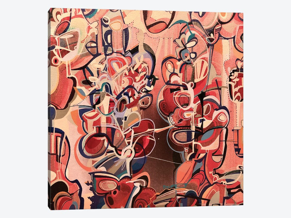 Abstract Red by Rebecca Moy 1-piece Art Print