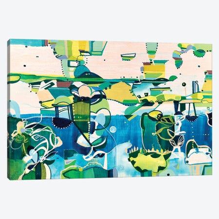 Seaside Canvas Print #RMY64} by Rebecca Moy Canvas Artwork