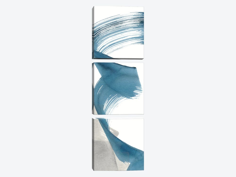 Breaking Blue III by Renée Stramel 3-piece Canvas Wall Art
