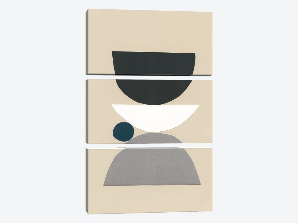 Modern Shapes I by Renée Stramel 3-piece Canvas Wall Art