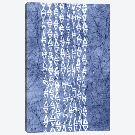Primitive Indigo Patterns III Canvas Print #RNE24} by Renée Stramel Canvas Artwork