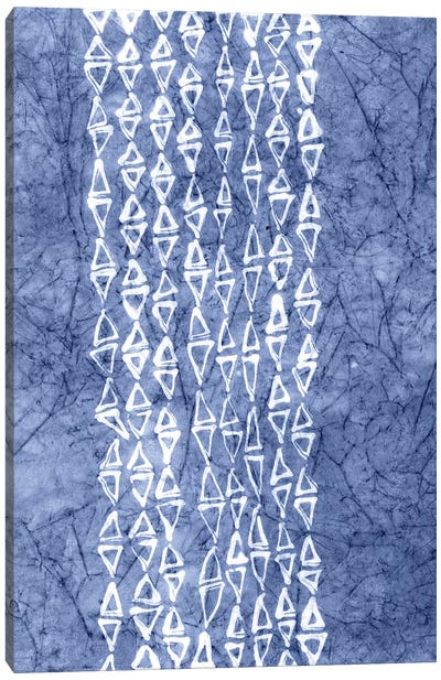 Primitive Indigo Patterns III Canvas Art Print