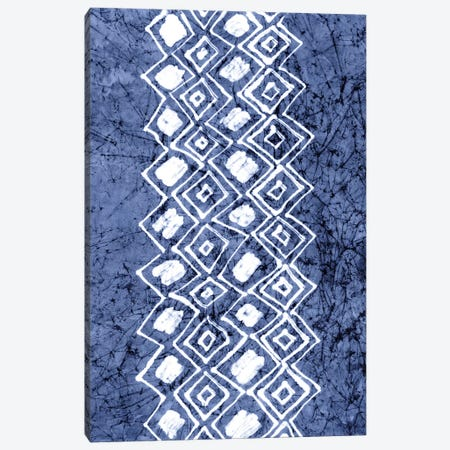 Primitive Indigo Patterns IV Canvas Print #RNE25} by Renée Stramel Canvas Art