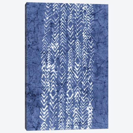 Primitive Indigo Patterns V Canvas Print #RNE26} by Renée Stramel Canvas Wall Art