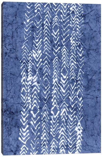 Primitive Indigo Patterns V Canvas Art Print