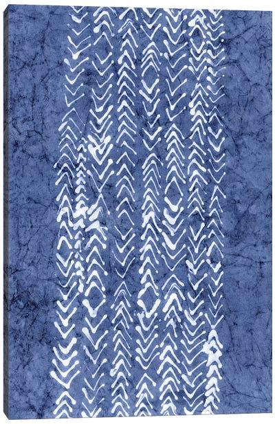 Primitive Indigo Patterns V Canvas Art Print