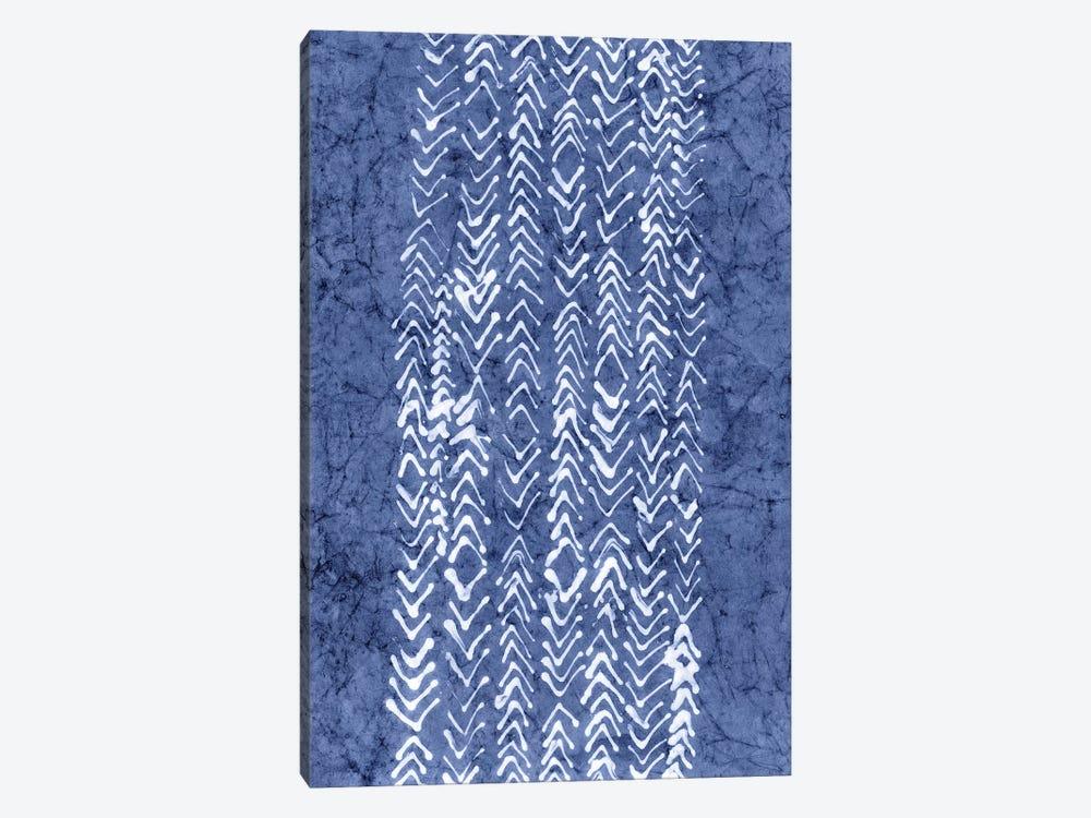 Primitive Indigo Patterns V by Renée Stramel 1-piece Canvas Art