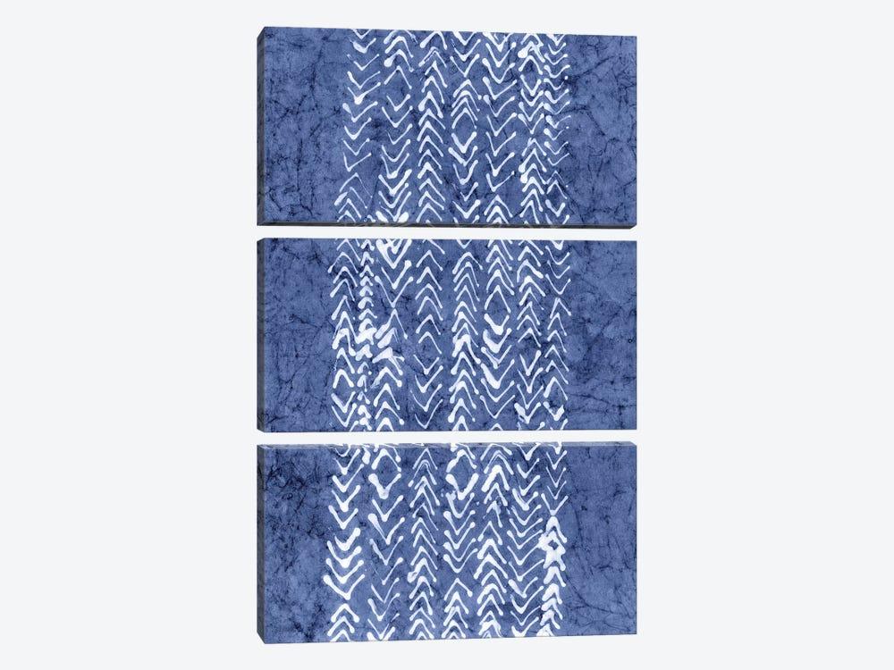 Primitive Indigo Patterns V by Renée Stramel 3-piece Canvas Wall Art