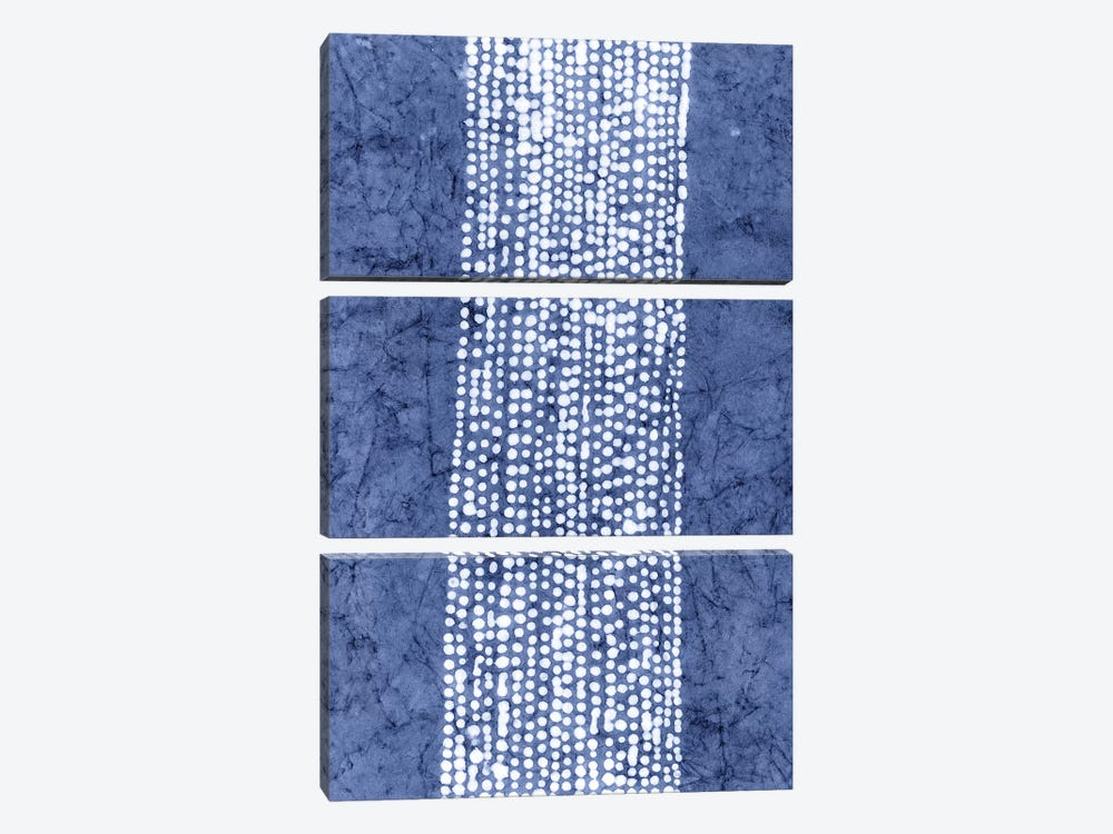 Primitive Indigo Patterns VI by Renée Stramel 3-piece Art Print