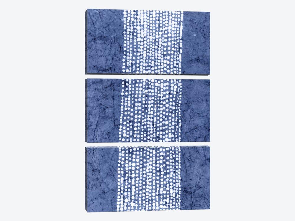 Primitive Indigo Patterns VI by Renée Stramel 3-piece Art Print