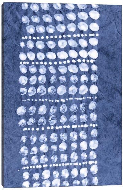Primitive Indigo Patterns VIII Canvas Art Print