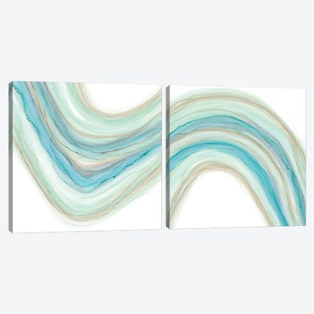 Gulf Stream Diptych Canvas Print Set #RNE2HSET001} by Renée Stramel Canvas Art Print