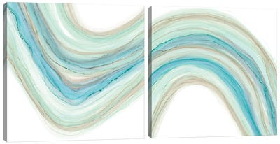 Gulf Stream Diptych Canvas Art Print