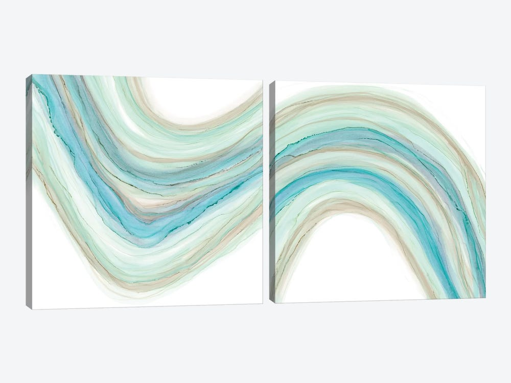 Gulf Stream Diptych by Renée Stramel 2-piece Canvas Art Print