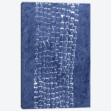 Primitive Indigo Patterns IX Canvas Print #RNE30} by Renée Stramel Canvas Wall Art