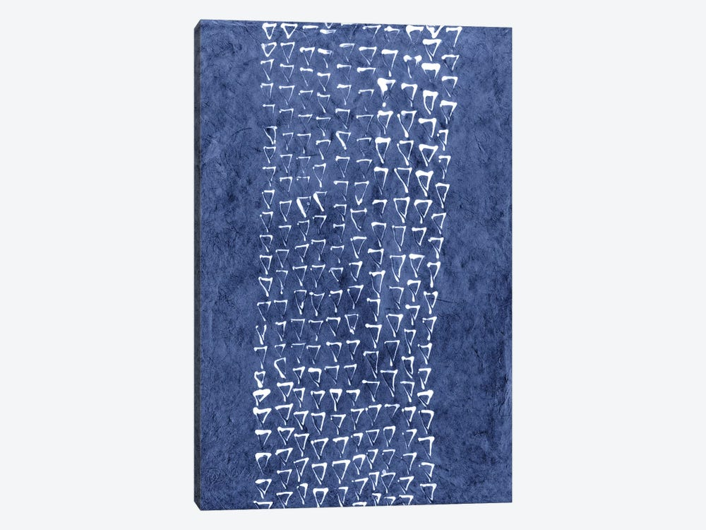 Primitive Indigo Patterns IX by Renée Stramel 1-piece Art Print