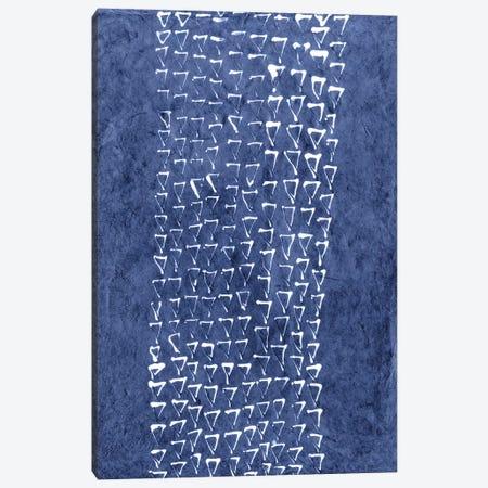 Primitive Indigo Patterns IX Canvas Print #RNE30} by Renée Stramel Canvas Wall Art