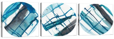 Geo Logic Triptych Canvas Art Print