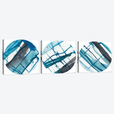 Geo Logic Triptych Canvas Print Set #RNE3HSET001} by Renée Stramel Canvas Print
