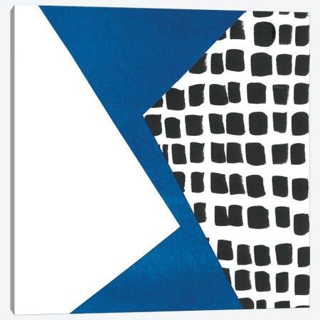 Memphis In Blue III Canvas Print #RNE90} by Renée Stramel Canvas Art
