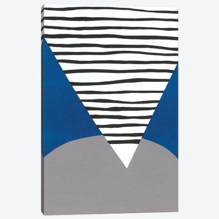 Memphis In Blue IV Canvas Print #RNE91} by Renée Stramel Canvas Art