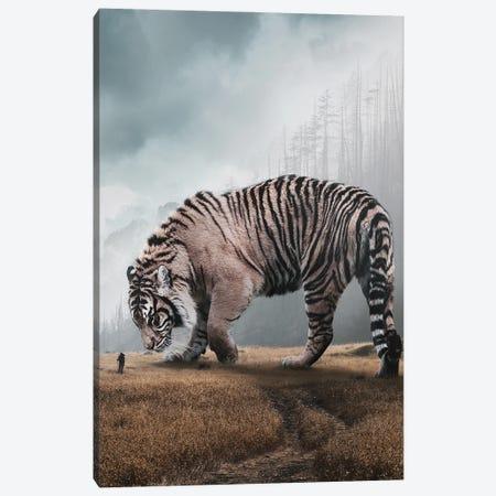 Giant Tiger Canvas Print #RNG14} by Ruvim Noga Art Print