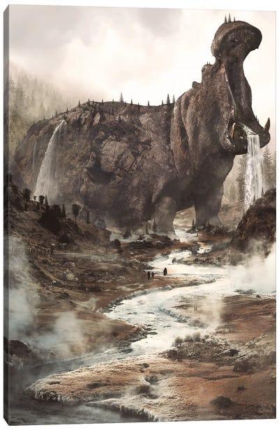 Hippo Mountain Canvas Art Print