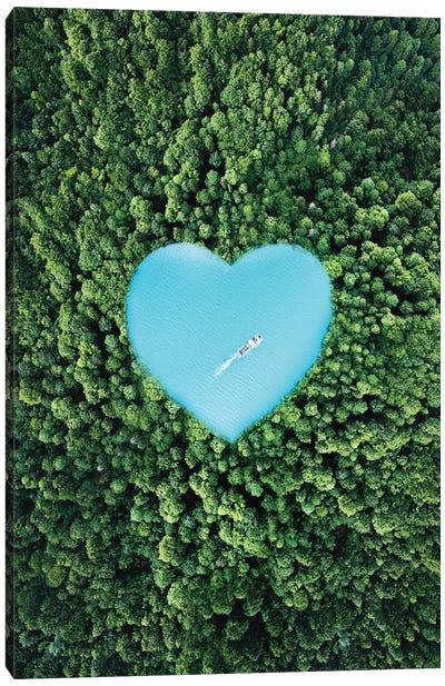 Heart Lake Canvas Art Print