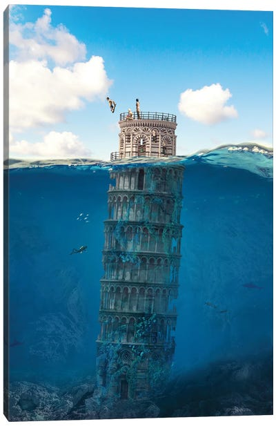 Leaning Tower Canvas Art Print