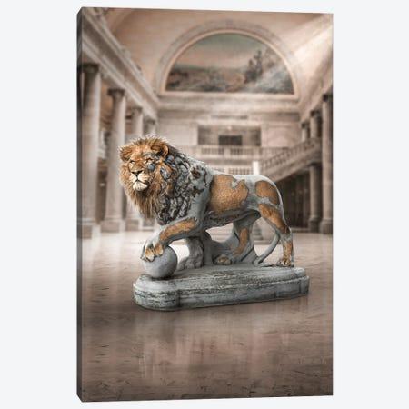 Lion Statue Canvas Print #RNG24} by Ruvim Noga Canvas Wall Art