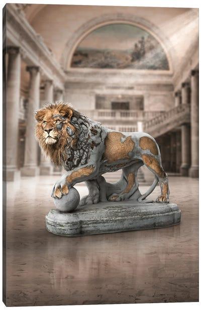 Lion Statue Canvas Art Print
