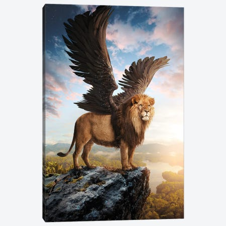 Winged Lion Canvas Print #RNG25} by Ruvim Noga Canvas Art
