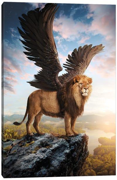 Winged Lion Canvas Art Print