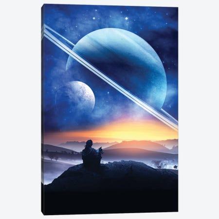 Planet Gazing Canvas Print #RNG29} by Ruvim Noga Canvas Print