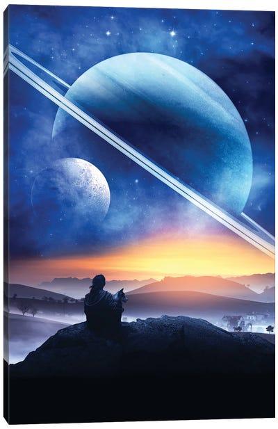 Planet Gazing Canvas Art Print