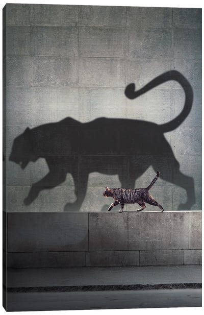 Shadow Of Greatness Canvas Art Print