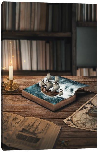 Sea Books Canvas Art Print