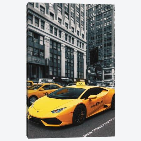 Lamborghini Taxi Canvas Print #RNG34} by Ruvim Noga Canvas Art Print