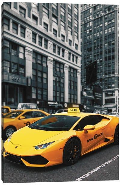Lamborghini Taxi Canvas Art Print