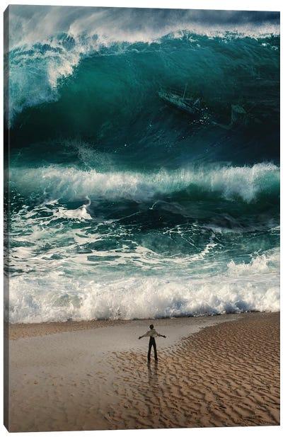 Tsunami Attack Canvas Art Print
