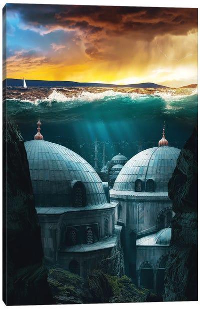 Underwater City Canvas Art Print