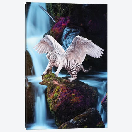 Winged Tiger Waterfall Canvas Print #RNG44} by Ruvim Noga Canvas Art