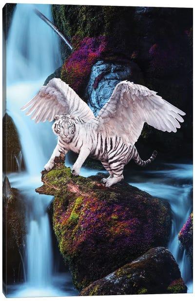 Winged Tiger Waterfall Canvas Art Print